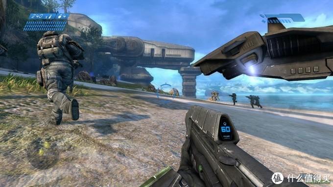 安静制图机关卡的抢滩登陆,Halo1里比较经典的关卡