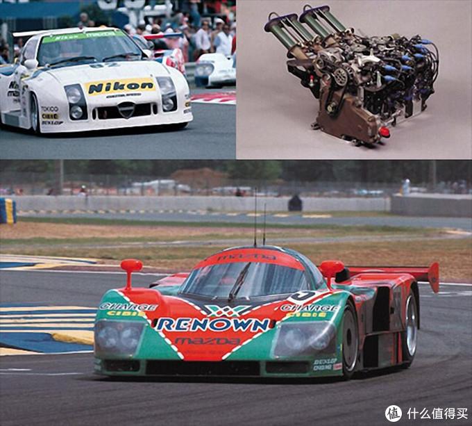 初次跑完勒芒24小时耐力赛全程的RX-7・700马力的4转子发动机・Mazda787B