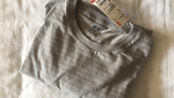 优衣库 415968 SUPIMA COTTON条纹T恤开箱晒物(领口|标签)