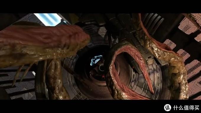 触手系的尸脑兽缠住了鹈鹕号,约翰逊带着米莲达逃离,士官长和神风烈士被甩了下来