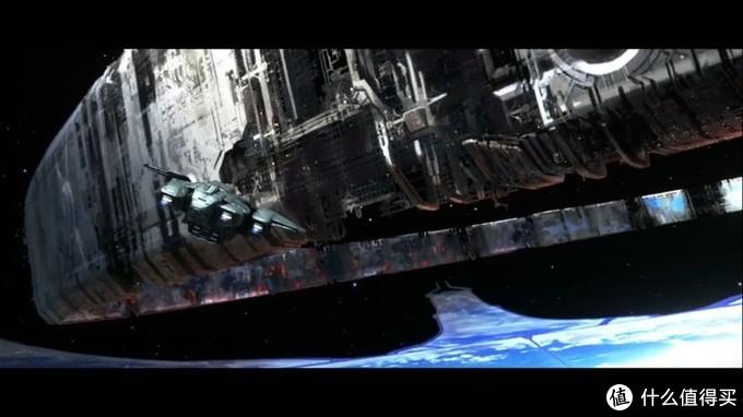 鹈鹕号载着士官长,神风烈士,Cortana前往方舟上空正在建造中的光环
