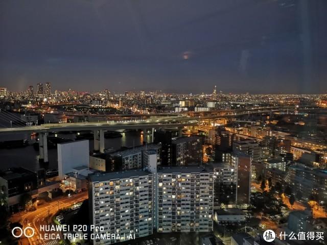 从摩天轮看大阪夜景