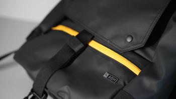 AGM 黑盾城市猎人双肩包外观展示(材质 涂层 口袋 反光)