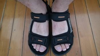 爱步 男式 Yucatan运动凉鞋使用总结(皮质|卡扣|优点|缺点)
