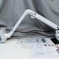 爱格升MXV显示器支架开箱展示(底座 螺丝 扎带 扳手)