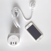 爱国者type-c插座外观展示(外壳|开关|接口|电源线)