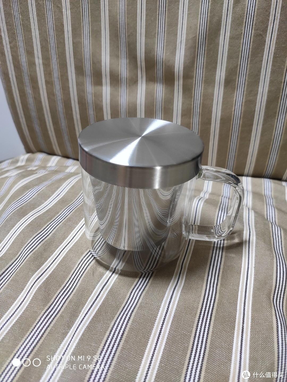 夏天到了,该喝点热水了!京造不锈钢过滤玻璃茶杯350ml开箱晒单