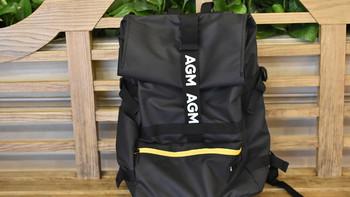AGM 黑盾城市猎人双肩包开箱展示(背带|拉链|口袋|提手)