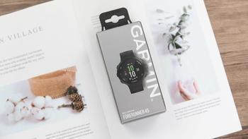 佳明Forerunner45智能运动手表开箱展示(屏幕|按键|表带|表盘|充电口)