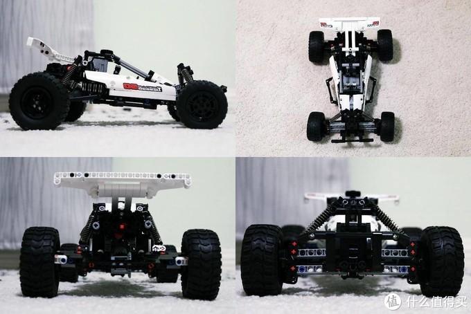 教育孩子认识简单的汽车结构 米兔积木沙漠赛车拼搭记