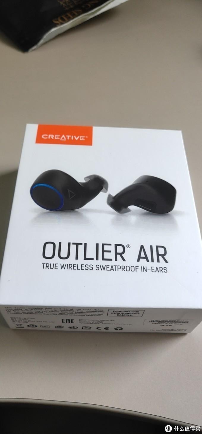 创新Outlier Air真无线蓝牙耳机开箱简评,对比同价位有线耳机