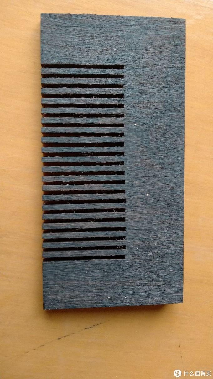 这是半成品原貌,竖截面是楔形的