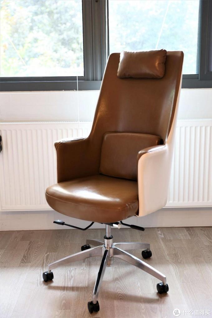 坐着很舒服的油蜡皮质感书房椅--爱特屋升降旋转摇椅