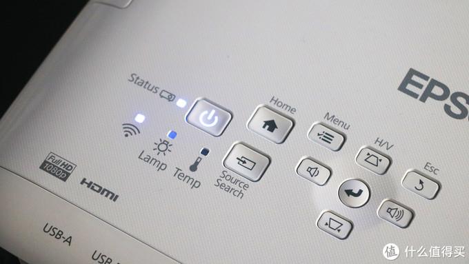 白墙轻松投影,画质色彩惊艳:爱普生 CH-TW610 轻松易用家庭投影机+爱奇艺电视果 套装