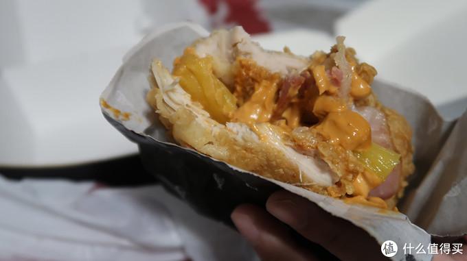 KFC培根鸡腿重磅汉堡 破碎