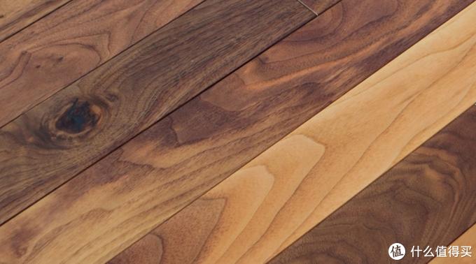 黑胡桃边材与心材肌理对比,黑胡桃木地板
