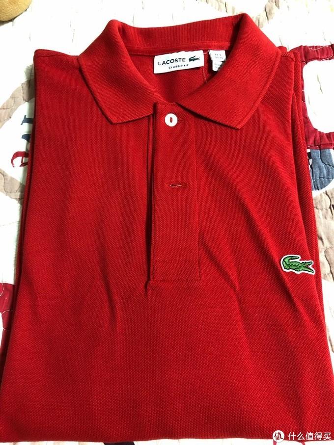 Lacoste 长袖Polo衫尺码和质感分享