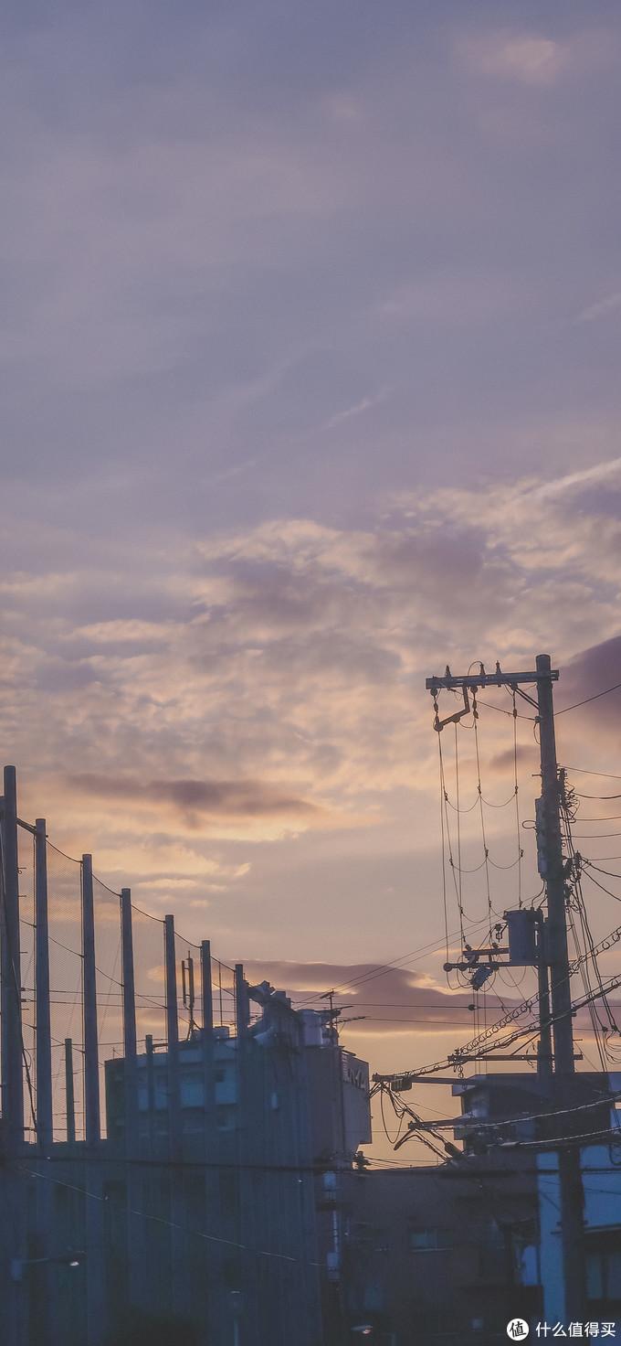 夕阳下的大阪