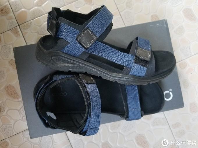 ECCO 男士 X-trinsic 凉鞋 纺织&皮革 两双一起晒单
