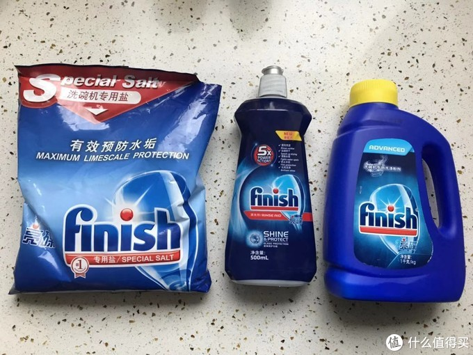 洗碗三剑客,粉,盐,漂洗剂