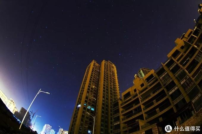 城市内星空摄影