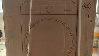 米家洗烘一体机Pro外观展示(面板|旋钮屏|按键|排污口|洗涤剂盒)