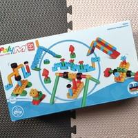 Hape 游乐场套 poly M 积木玩具拼装(颗粒 说明书 编号 形变)