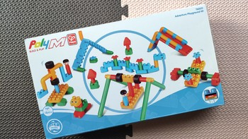 Hape 游乐场套 poly M 积木玩具拼装(颗粒|说明书|编号|形变)