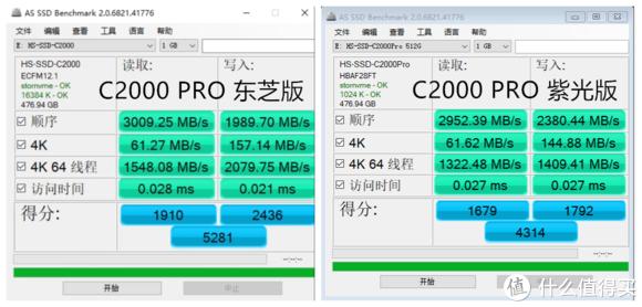 海康C2000 PRO  东芝原厂 VS 紫光原厂