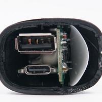 贝尔金30W USB PD快充车载充电器拆解过程(输出面板|芯片|接口)