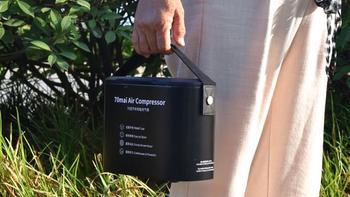 70迈车载充气泵开箱展示(显示屏|按键|气嘴)