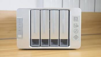 铁威马F4-421网络存储外观展示(外壳|指示灯|开关|硬盘仓|散热孔)