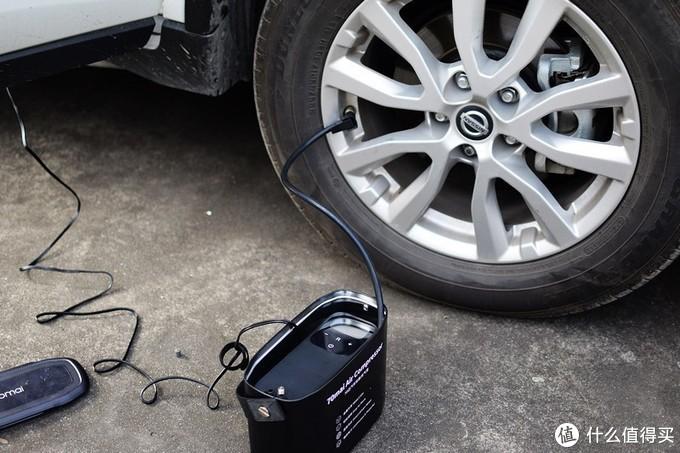 快捷方便 70迈汽车轮胎充气泵 体验