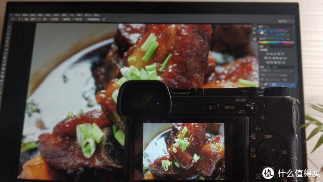 照相机与SW240显示同一张照片效果对比(特写)
