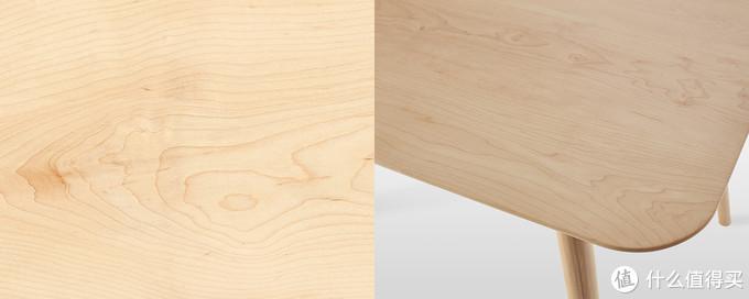 常见的硬枫边材纹理与家具
