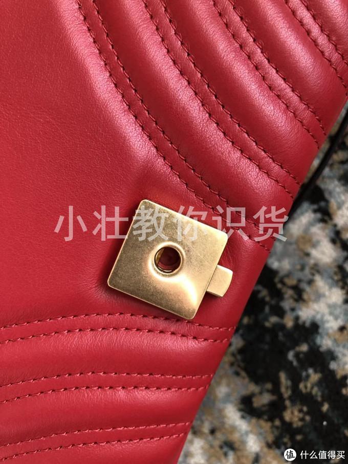 Gucci marmont辨别真假-26cm皮质链条包