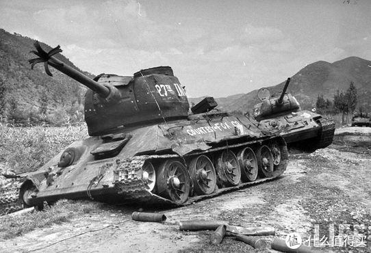 朝鲜战争中,被联合国军击毁的朝鲜人民军的T-34/85
