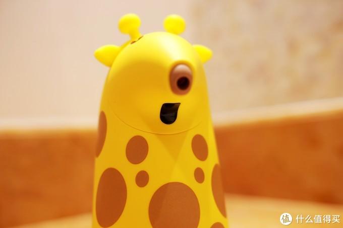 外观可爱的长颈鹿泡沫洗手机--小七泡泡全体验