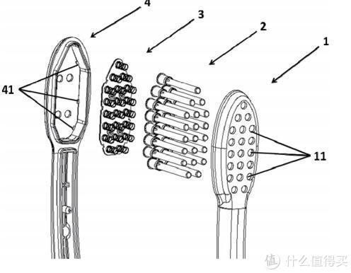 每簇刷毛下面都有弹簧,那么就会很有弹性了