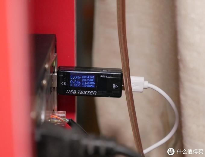 ▲顺带测量了一下工作时的耗电情况,大约是1.2W