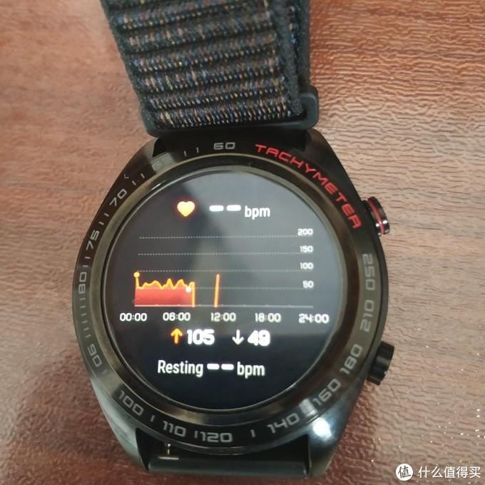 手表主界面右滑第一个就是心率界面,很方便。