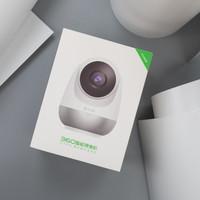 360智能摄像机云台变焦版外观展示(适配器 电源线 底座 麦克风 卡槽)