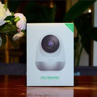 360智能摄像机外观展示(适配器|电源线|底座|接口|镜头)