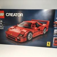 LEGO 10248 F40 乐高开箱展示(尺寸 颗粒 侧裙 座椅 仪表盘)