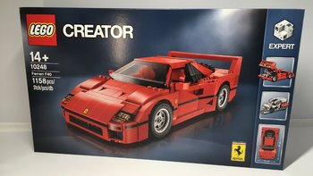 LEGO 10248 F40 乐高开箱展示(尺寸|颗粒|侧裙|座椅|仪表盘)