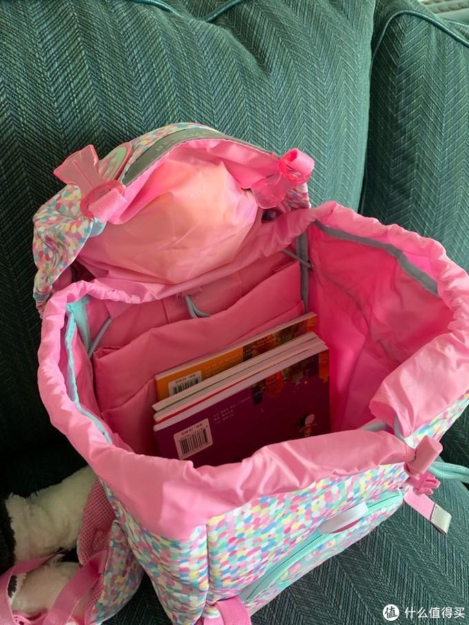 书包打开的样子