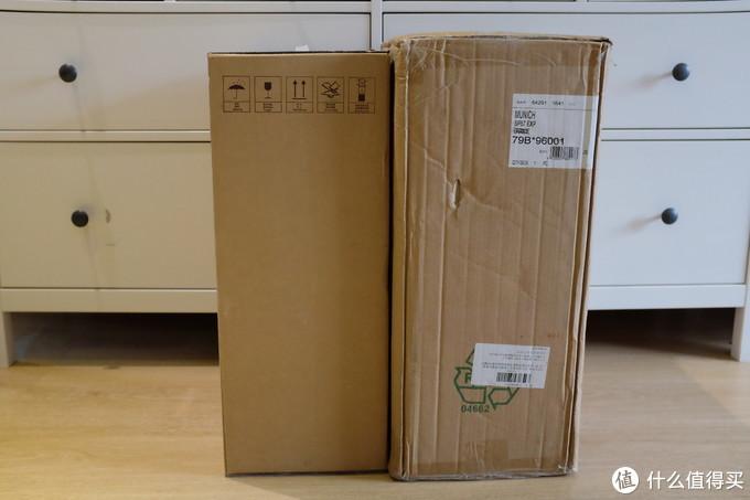 美旅使用贴纸标注了拉杆箱的基本信息,和京东的仓储信息,有些杂乱。