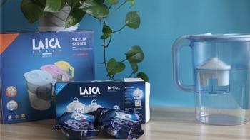 LAICA莱卡净水壶开箱体验(盖板 手柄 滤芯 入水口 出水口)