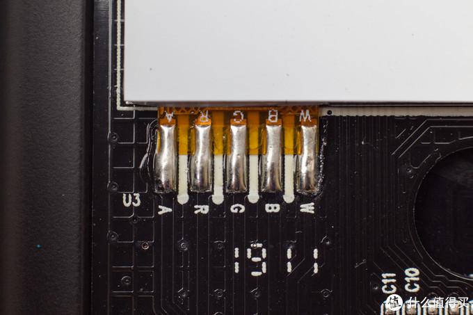 前面板按键区域PCB细节