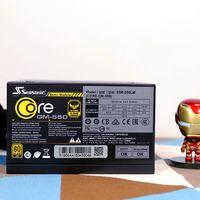 海韵CORE GM-550电源外观展示(尺寸 插口 风扇)